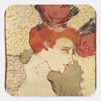 Mlle. Marcelle Lender, 1895 Square Sticker