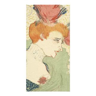 Mlle Marcelle Lender by Henri de Toulouse-Lautrec Custom Photo Card