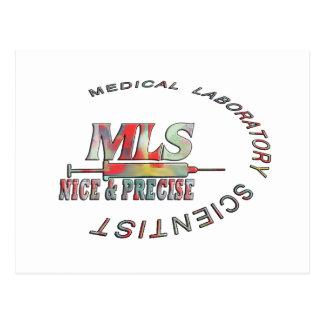 MLS NICE AND PRECISE MEDICAL LABORATORY SCIENTIST POSTCARD