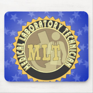 MLT BADGE MEDICAL LABORATORY TECHNICIAN MOUSE PAD