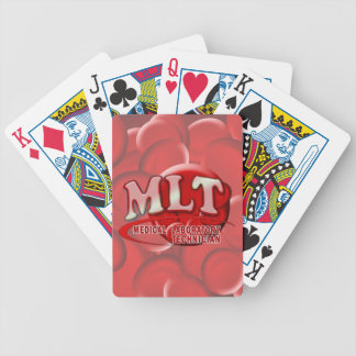 MLT RBC MEDICAL LABORATORY TECH BLOOD CELLS LOGO BICYCLE PLAYING CARDS