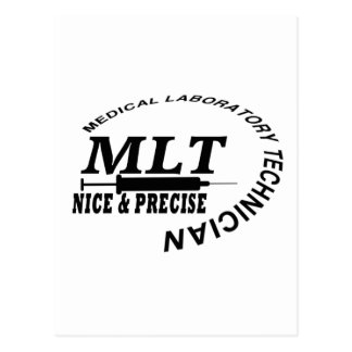 MLT SLOGAN NICE AND PRECISE MEDICAL LAB TECH POSTCARD