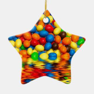MM chocolate sweets Ceramic Star Decoration