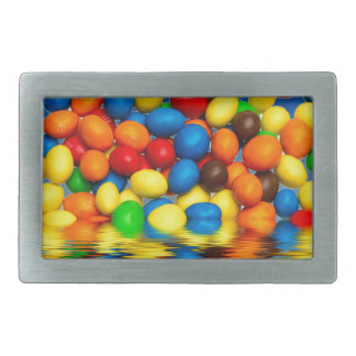 MM chocolate sweets Rectangular Belt Buckle
