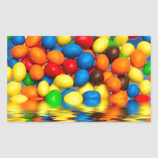 MM chocolate sweets Rectangular Sticker