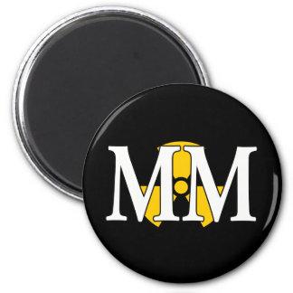 MM - Machinist's Mate 6 Cm Round Magnet