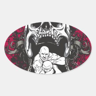 MMA 1 ai Oval Stickers