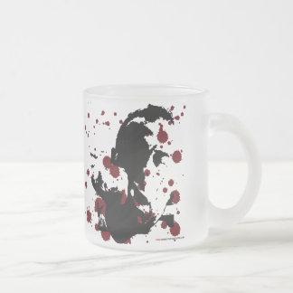 MMA Art K.O. Frosted Glass Coffee Mug