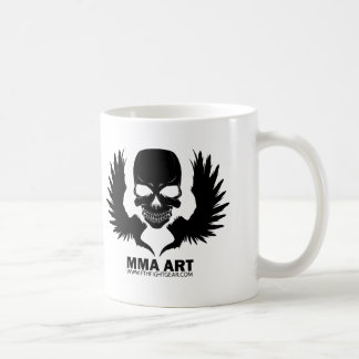 MMA ART WINGED CLASSIC WHITE COFFEE MUG
