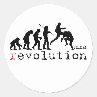 MMA Evolution Chart Flying Knee Sticker