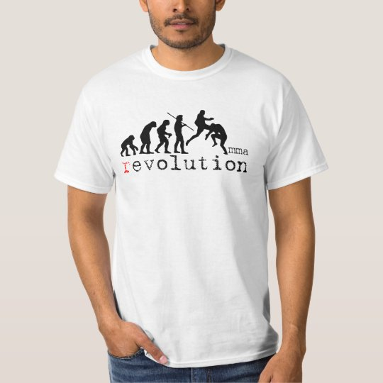 MMA Evolution Chart White T-Shirt (FLYING KNEE)