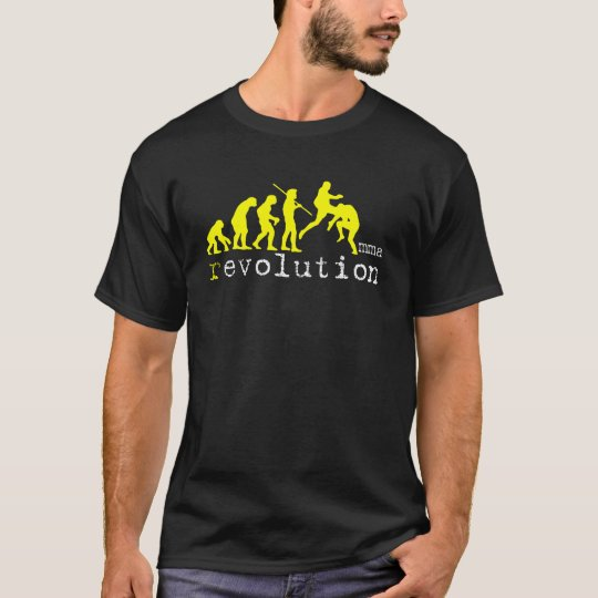 MMA Evolution Chart Yellow Graphic Dark T T-Shirt
