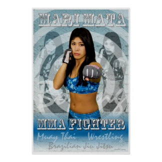 MMA Female Fighter Mari Mata Poster