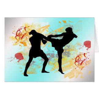 MMA Head Kick Greeting Card