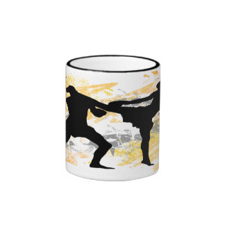 MMA Head Kick Ringer Coffee Mug