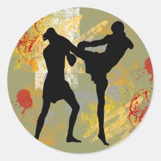MMA Head Kick Stickers