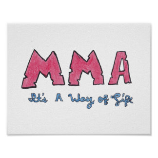 MMA It's a Way of Life Poster