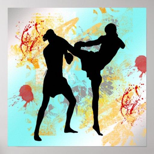 MMA Kick poster