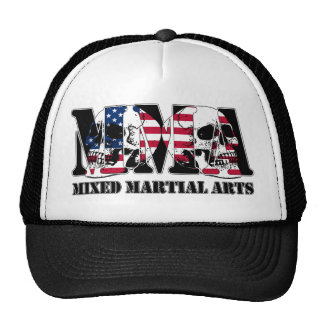 MMA Mixed Martial Arts Japan Flag & Skulls Cap