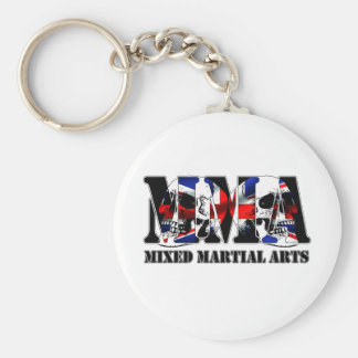 MMA Mixed Martial Arts UK Skulls Basic Round Button Key Ring