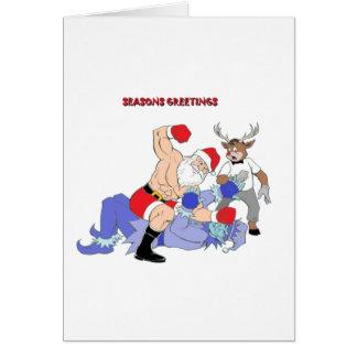 MMA Santa Vs Jack Frost Greeting Card