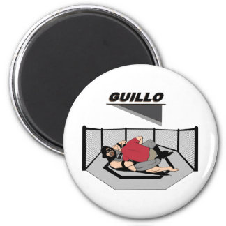 "MMA Superhero ""Guillo"" 6 Cm Round Magnet"