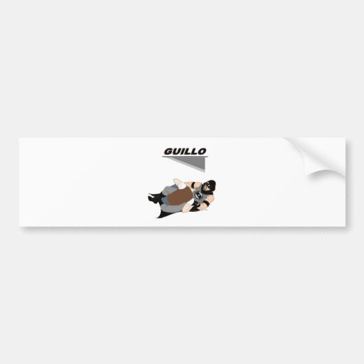 """MMA Superhero """"Guillo"""" Bumper Stickers"""