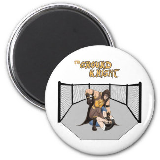"MMA Superhero ""The Ground Knight"" 6 Cm Round Magnet"