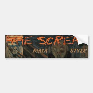 MMA The Ultimate Scream Bumper Sticker