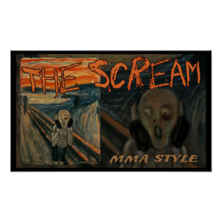 MMA The Ultimate Scream Poster