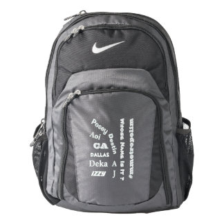 "MMetropolim ""Whose Name Is It?  Nike  Backpack, Backpack"
