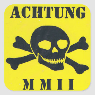 MMII MINEFIELD STICKER