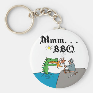 Mmm. . . BBQ Basic Round Button Key Ring