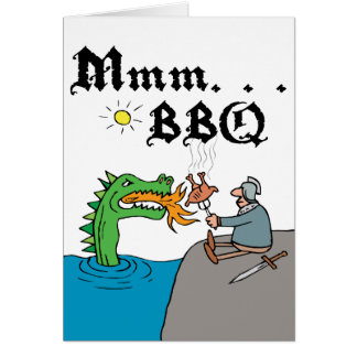 Mmm. . . BBQ Stationery Note Card