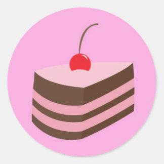 mmm cake classic round sticker