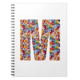 MMM GGG FFF EEE E F G M MM GG FF EE Gifts Spiral Notebook