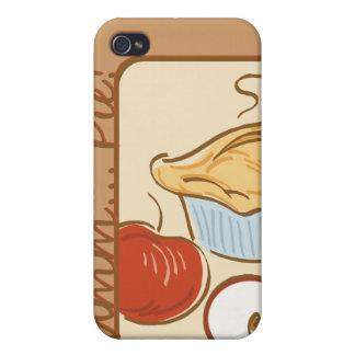 Mmm Pie design iPhone 4g iPhone Case iPhone 4 Covers