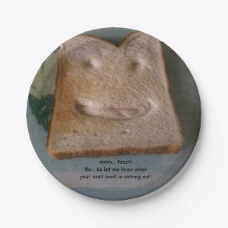 mmm... toast paper plate