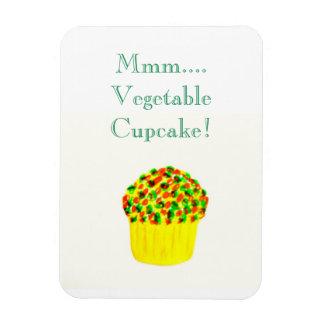 Mmm... Vegetable Cupcake! Rectangular Photo Magnet