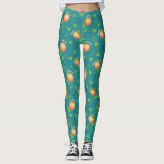 Mmmm-Peach-Mint leg shields Leggings