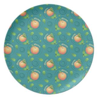 Mmmm-Peach-Mint Plate