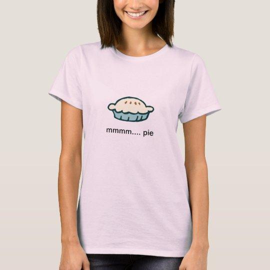 mmmm. pie t-shirt