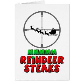 Mmmm… Reindeer Steaks Greeting Card