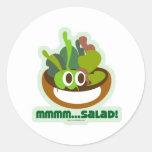 Mmmm Salad Round Sticker