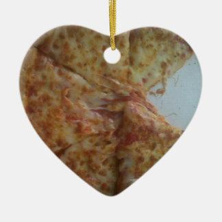 Mmmmmmm.....pizza Ceramic Heart Decoration