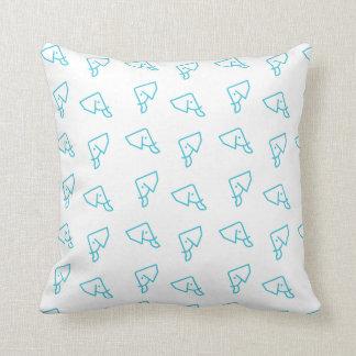 MMNH All-Over Blue Elephant Print Throw Pillow