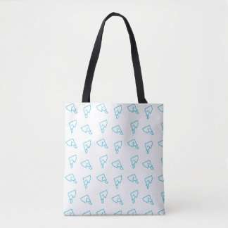MMNH All-Over Blue Elephant Print Tote