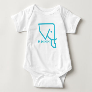 MMNH Blue Elephant Baby Romper Baby Bodysuit