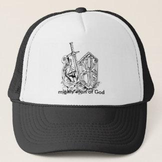 MMOG ART (TM), mighty man of God Trucker Hat