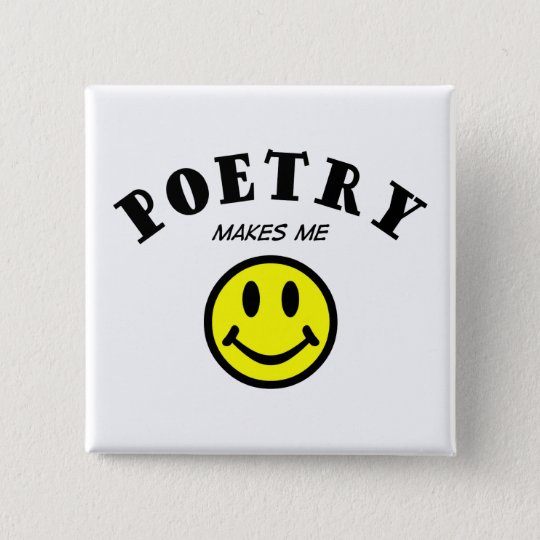 MMS:  Poetry 15 Cm Square Badge